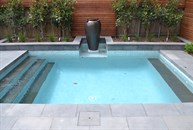 Plunge Pool with Bluestone paving