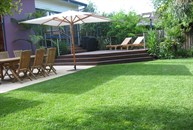 View sundeck and lawn