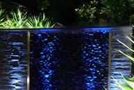 View of Waterfeature and garden lighting