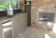View of outdoor kitchen in Cabana